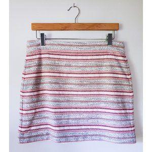 Loft Woven Textile Mini Skirt, Size 4